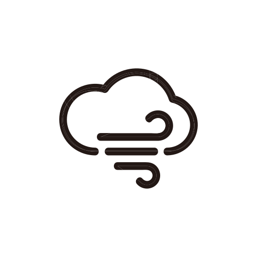 cloudy, storm, weather, wind, windy icon