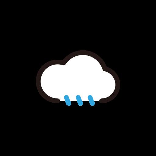 cloud, drizzel, rain, weather icon
