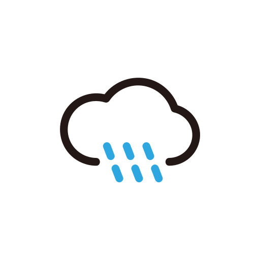 rain, shower, storm, weather icon