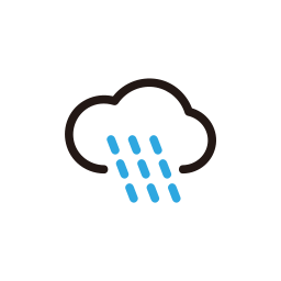 clouds, cloudy, forecast, rain, weather icon
