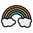 cloud, curve, rainbow, rainy, round, sky, spectrum icon
