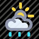 cloud, forecast, rainy, sun, weather
