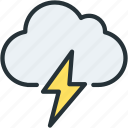 cloud, lighting, thunder, weather icon