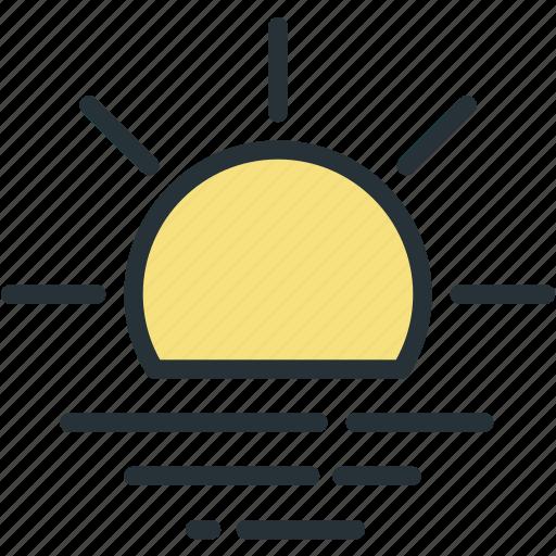 day, sea, sun, weather icon