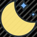 moon, night, stars, weather