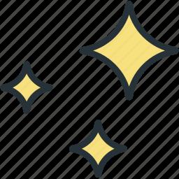 shinny, stars, weather icon