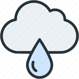 rain, weather icon