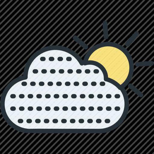 fog, haze, sun, weather icon