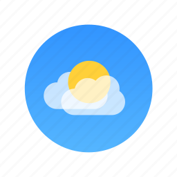 cloud, cloudy, color, day, sun icon