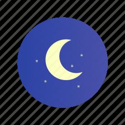 clear, dark, moon, night, stars icon