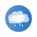 cloud, color, day, rain, rainy icon