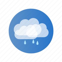 cloud, color, day, rain, rainy icon