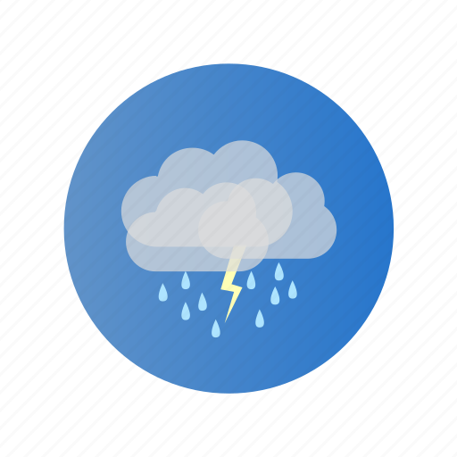 cloud, day, rain, storm, stormy, thunder icon