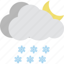 heavy rain, night raining, raincloud, raining, weather icon