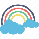 atmosphere, forecast, rainbow, semicircle, sunrays icon