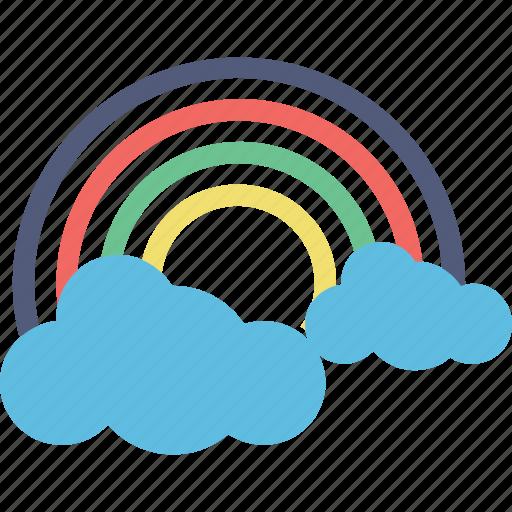 atmosphere, forecast, rainbow, semicircle, sunrays icon