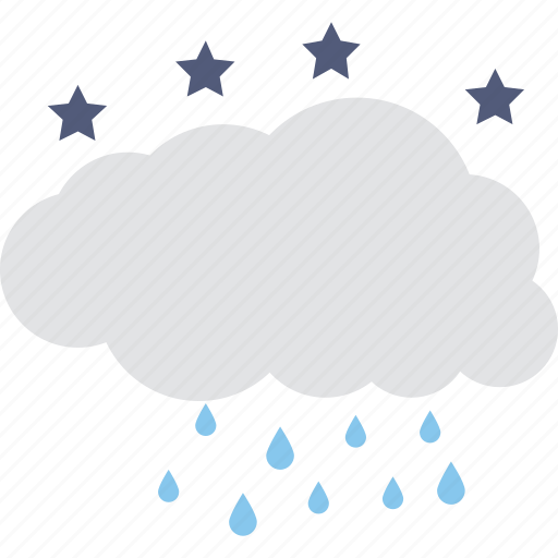 cloud raining, puffy clouds, raining, rainy climate, weather icon
