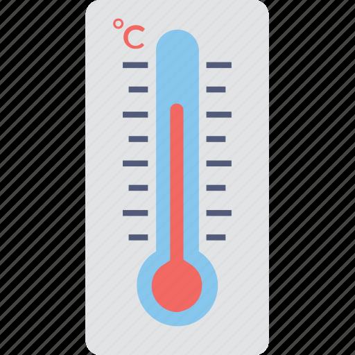 celsius, degrees, fahrenheit, high temperature, thermometer icon