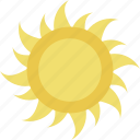 bright day, hot day, sun, sunny day, sunshine icon
