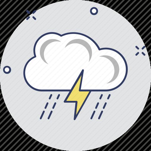atmosphere, cloud lightning, power bolt, storm cloud, thunderstorm icon