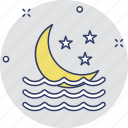 crescent, environment, moon, nature, night icon