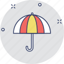 open umbrella, parasol, protection, rain protection, umbrella