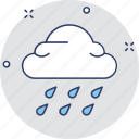 cloud raining, forecast, raining, rainy weather, weather icon