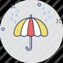 open umbrella, parasol, rain protection, protection, umbrella