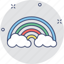 forecast, rainbow, semicircle, spectrum, sunrays icon