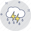 rain storm, rain thunderstorm, thunderstorm, weather icon