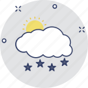 raining, rainstorm, rainy day, sunny rain, weather forecast icon