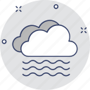 lake, river, sea, water waves icon