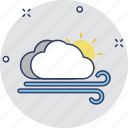 air element, cloud windy, wind storm, windy, windy day icon