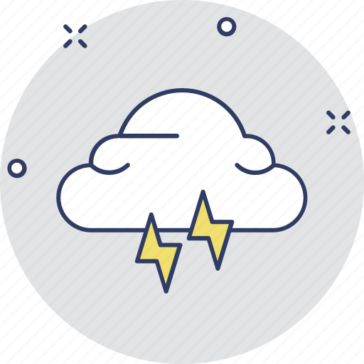 atmosphere, cloud lightning, power bolt, storm cloud, thunderstorm icon