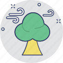 conifer windbreak, forest weather, forest wind, tree wind, weather theme icon