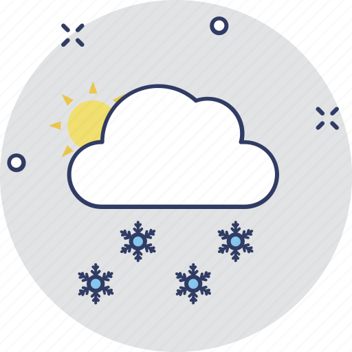 cold weather, snow cloud, snow falling, snowflake cloud, winter season icon