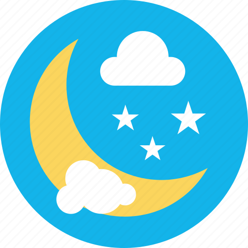 cold night, forecast, night cold weather, night snowfall, weather icon