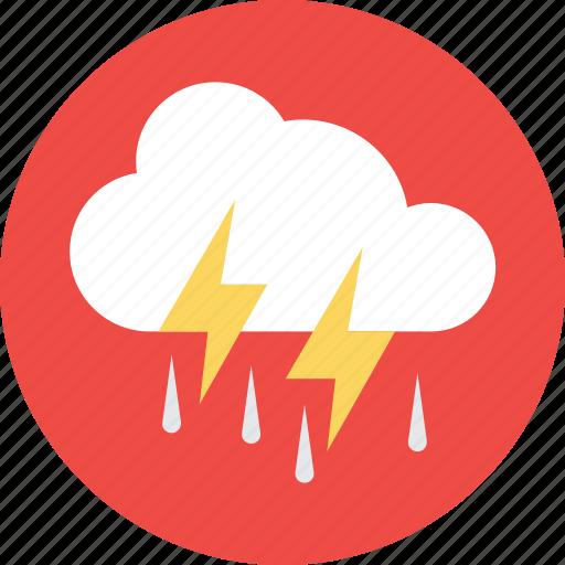 rain storm, rain thunderstorm, thunderstorm, weather icon