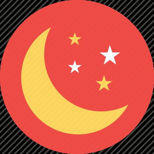 crescent, environment, moon, nature, night icon