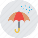 open umbrella, parasol, protection, rain protection, umbrella icon