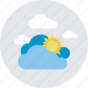 cloudy day, morning, sun and cloud, sunny cloudy, weather icon