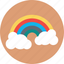 forecast, rainbow, semicircle, spectrum, sunrays