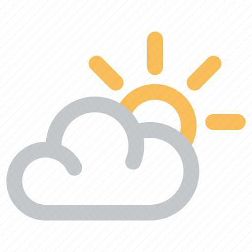 Cloud, cloudy, day, sun, weather icon - Download on Iconfinder