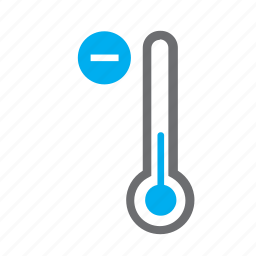 cold, down, mercury, meteorology, temperature, thermometer, weather icon