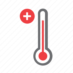 hot, mercury, meteorology, temperature, thermometer, up, weather icon