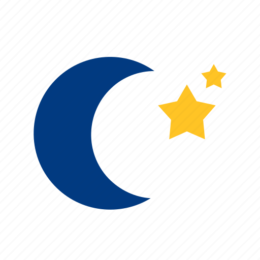 meteorology, moon, star, weather icon