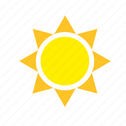 meteorology, sun, weather icon