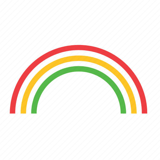 meteorology, rainbow, weather icon