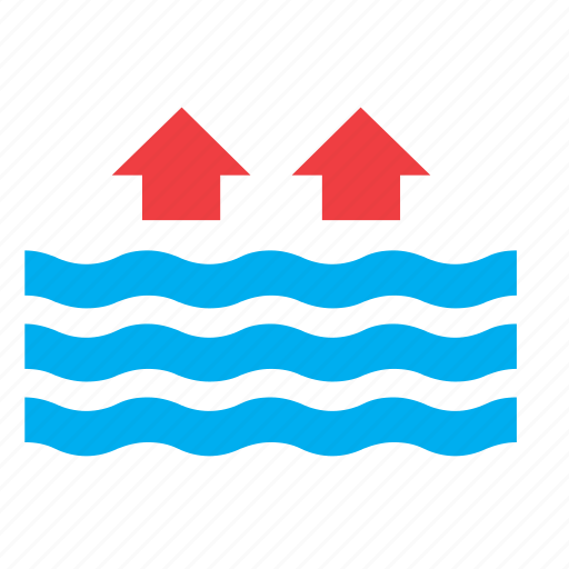 high, meteorology, ocean, sea, tide, water, weather icon