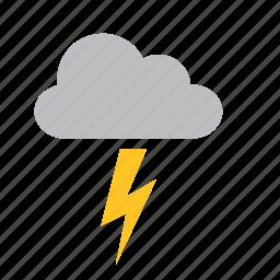 cloud, lighting, meteorology, ray, storm, weather icon